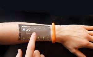 Future btechnology concept cicret bracelet