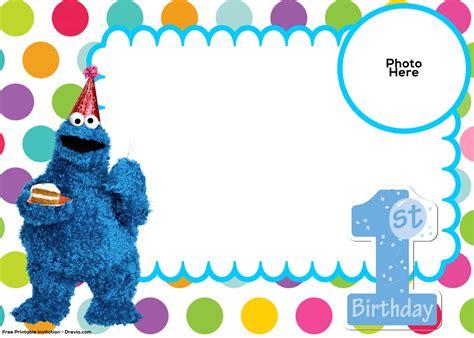 cookie invitation template free sesame 1st birthday invitation template free