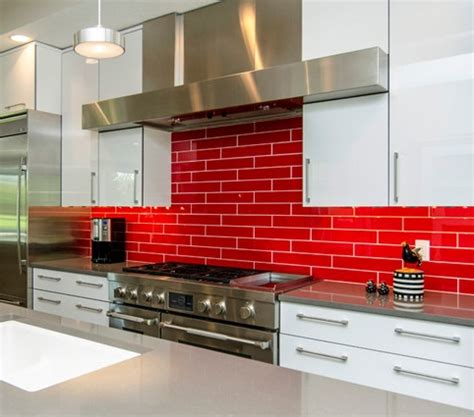 red kitchen backsplash ideas red kitchen backsplash red tile backsplashes are bold