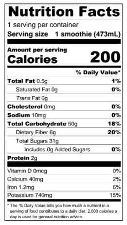 Whole Foods Detox Salad Nutrition Facts by Booster Juice Nutrition