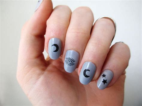 nail tattoos moon nail decals temporary tattoos by tattoorary
