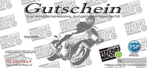 Bilder Gutschein Motorrad by Zweirad Rallye Sicherheitstraining