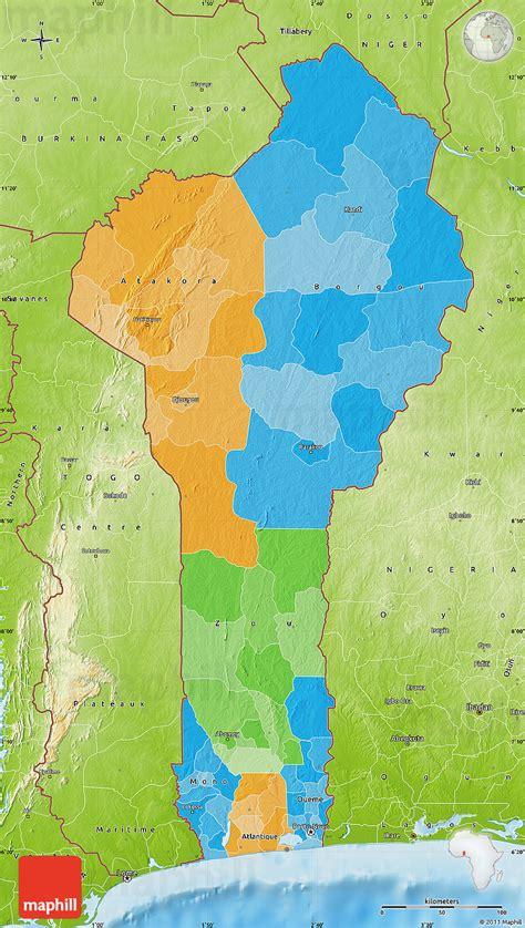 benin physical map political map of benin physical outside