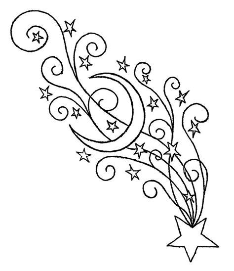 Dibujos Para Colorear De Estrellas Fugaces Alusivas A La Shooting Coloring Page