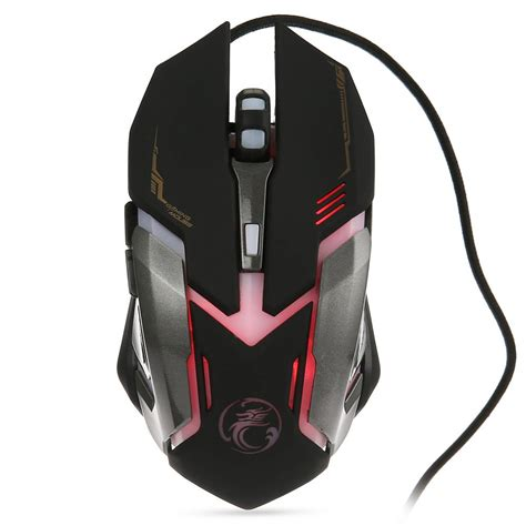 Mouse Gaming Rapoo V 2 Wired 3200 Dpi Blackgaming Mouse Sale rajfoo gaming mouse imice v6 adjustable 3200 dpi 6 button led optical usb wired mouse mause