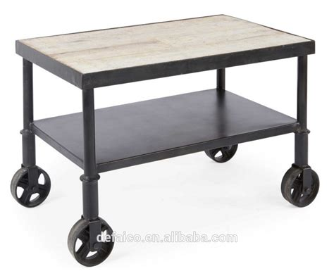 small rustic side table rustic industrial small cart side coffee table buy