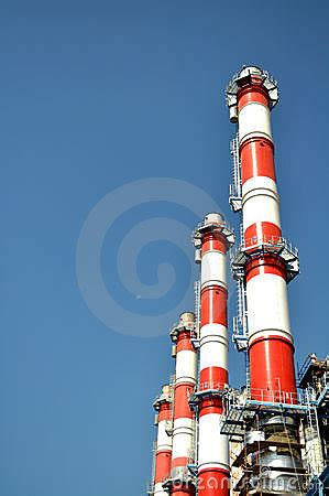 power plant stack stock  image