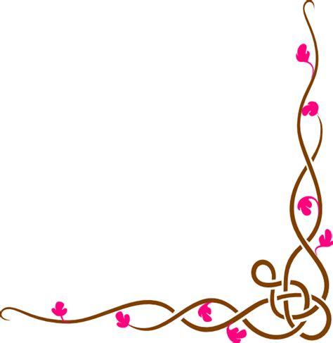 long floral border clip art at clker com vector clip art online royalty free public domain