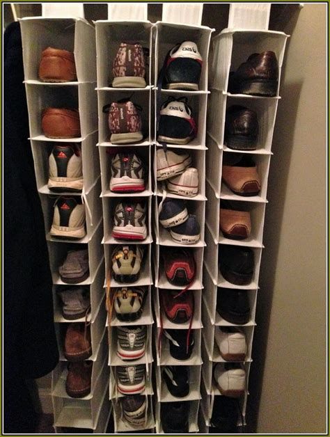 shoe organizer closet hanging home design ideas