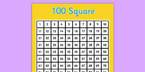 sgwar  number square  square counting numbers