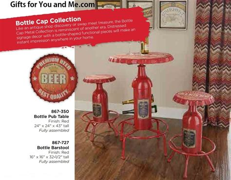 Bottle Cap Table And Stool Set by Powell Furniture Bottle Cap Pub Table And Stools Set In