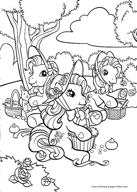 My Little Pony Color Page Cartoon Color Pages My Pony Characters Coloring Pages