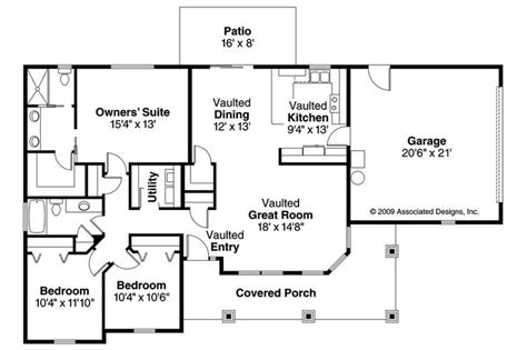 ranch bungalow floor plans bungalow house plan strathmore 30 638 floor plan