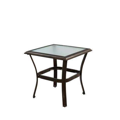 Hton Bay Niles Park 18 In Round Cast Top Patio Side Patio Side Tables