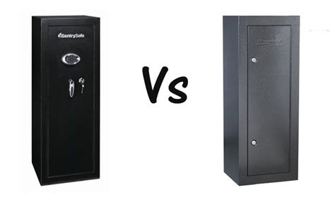 gun cabinet vs safe compare sentrysafe g1459e gun cabinet and homak hs30003630