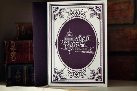 invitation design book michael breanna s antique book wedding invitations