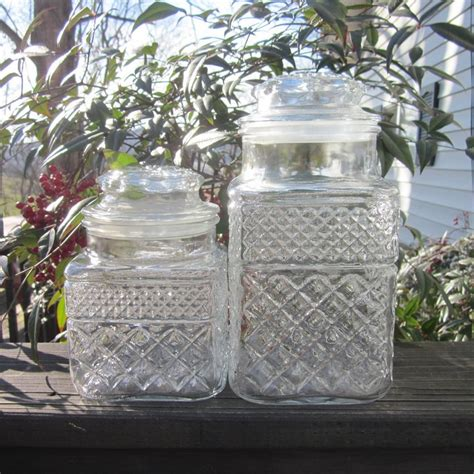 glass buffet jars 17 best images about vintage glass jars on glass jar with lid etched glass and vintage
