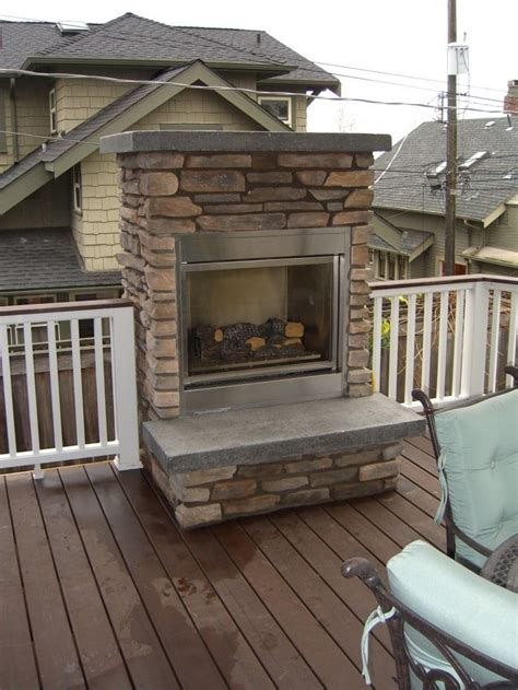 Outdoor fireplace on deck Outdoor furniture Design and Ideas