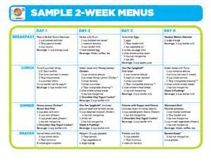 week menu template sle 2 week menus choose myplate