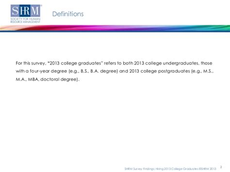 Shrm Notes For Mba by Hiring 2013 College Graduates
