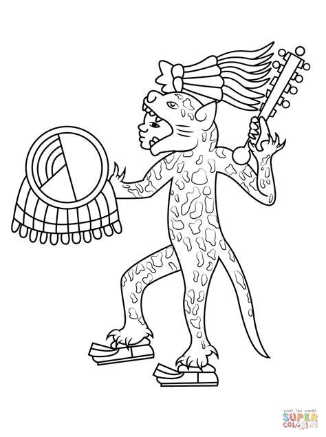 aztec jaguar drawings