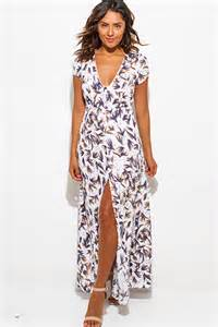 High slit rope halter wrap neck backless evening party maxi sun dress