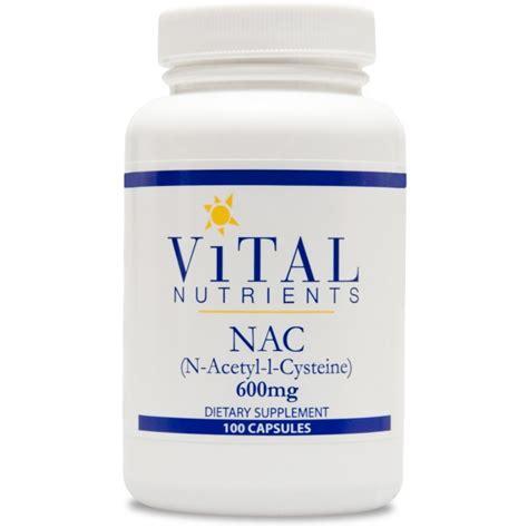 Vital Lung Detox Ingredients by Vital Nutrients Nac 600 Mg 100 Capsules The
