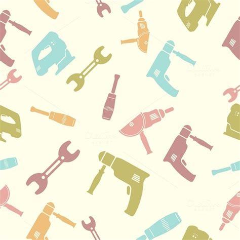 seamless pattern tool seamless pattern of tools patterns on creative market