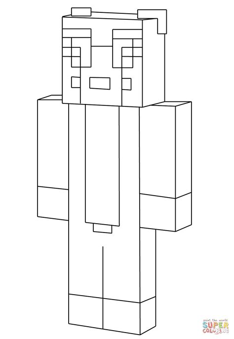 coloring pages minecraft cat minecraft stylongnose coloring page free printable