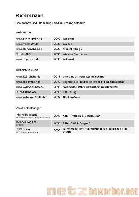 Bewerbung Referenzen Vorlagen F 252 R Anschreiben Lebenslauf Und Co