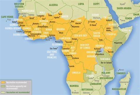 africa map 2016 febbre gialla