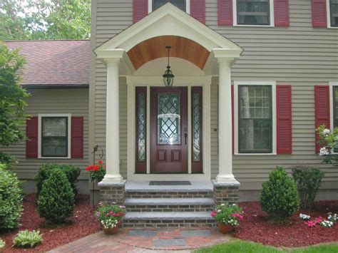 house porch design images  india wood front designs