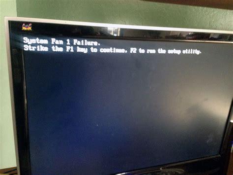dell laptop fan utility how to fix quot system fan failure quot botcrawl