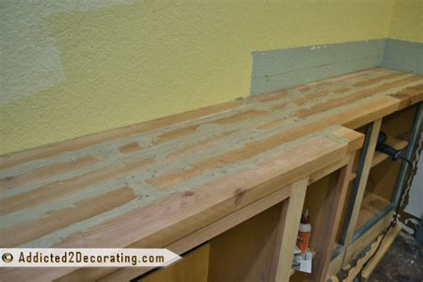diy custom wood countertops diy built in bookcases part 2 the wood countertop