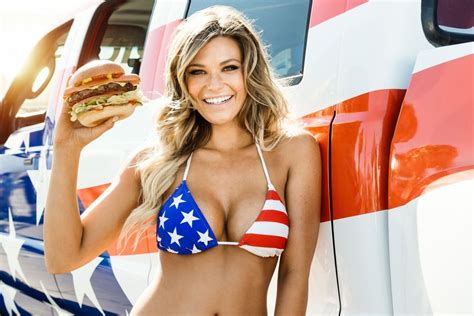 food truck commercial actress the ceo of carl s jr doesn t care if you re offended by