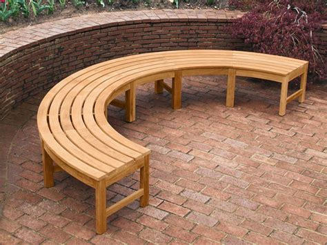 curved backless bench curved backless bench teak