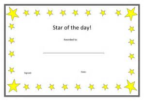 star of the day certificate by wintersnow765 teaching