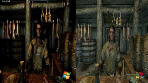skyrim console ps3 skyrim comparison pc w mods vs ps3