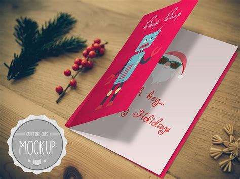 realistic greeting card template psd greeting card mockup instant photoshop psd