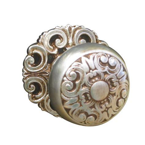 buy mosaccio door knob  rose matt silverold gold