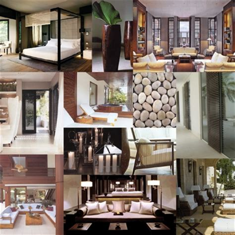 Home Design Examples mood board for private villa residential gallery