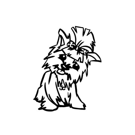 free coloring pages of yorkie puppy