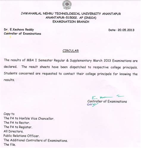 Mba Results 2013 Jntuh by Jewelry Advisor Jntu Anantapur Mba Semester