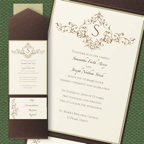 wedding invitation with pocket vintage pocket wedding invitations flamingo