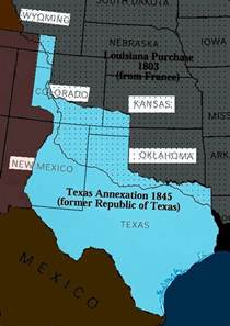 map of annexation unitedstateshistorylsa the lone republic