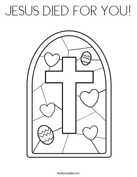 jesus died on cross coloring page jesus died for you coloring page twisty noodle