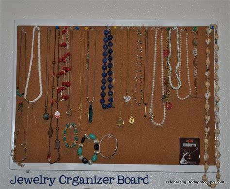 jewelry board celebrating today necklace and braclet jewelry organizer