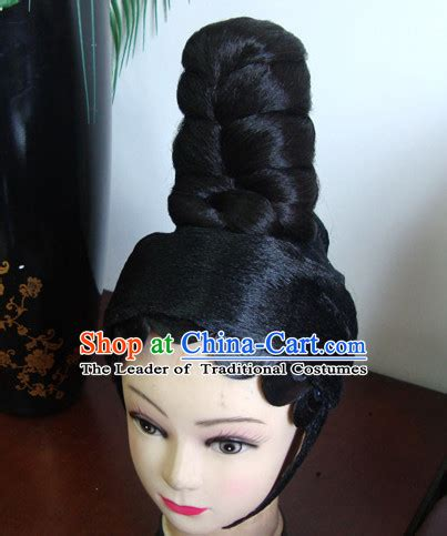 opera hairstyles ancient chinese black wig for kids