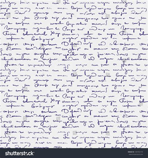 seamless pattern text seamless abstract handwritten text pattern stock vector