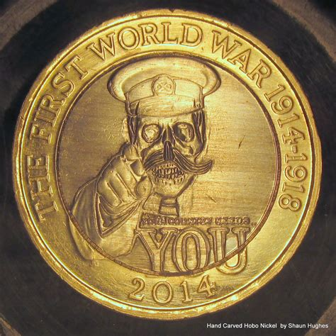 Lord Kitchener 2 Coin by Lord Kitchener Skull Carved 2 Pound Coin By Shaun750 On